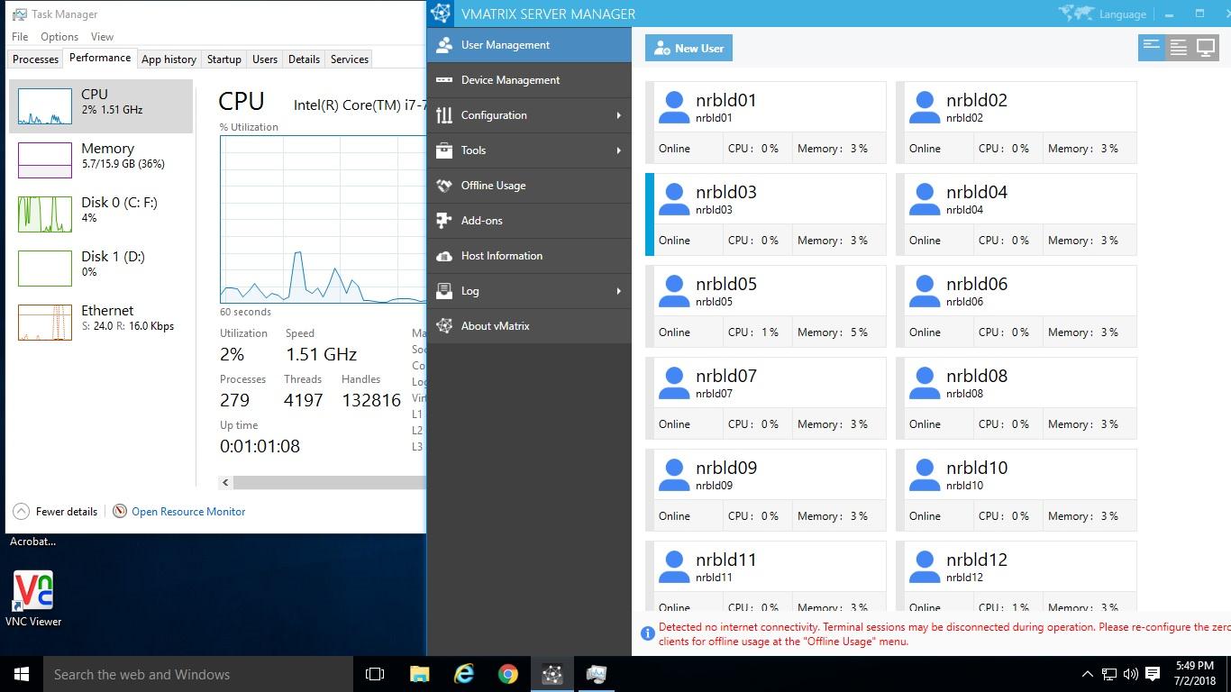 vCloud Server &Task Manager